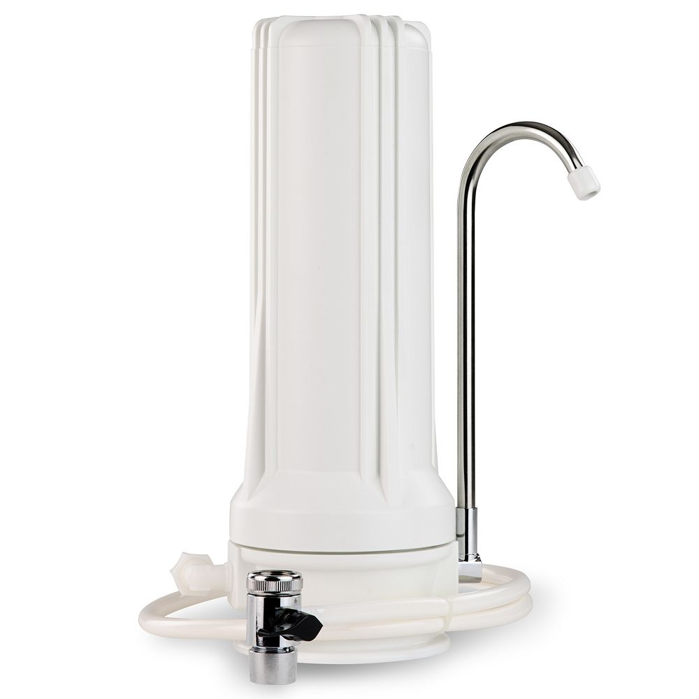 iSpring CKC1 countertop water filter White Housing with Carbon, White Housing