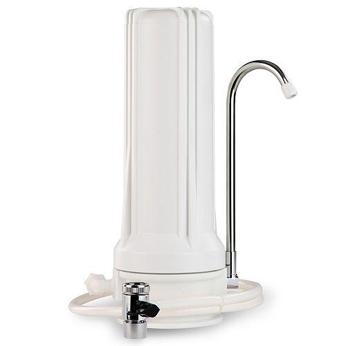 Filtre à eau de comptoir CKC1, boîtier blanc avec boîtier en carbone, boîtier blanc