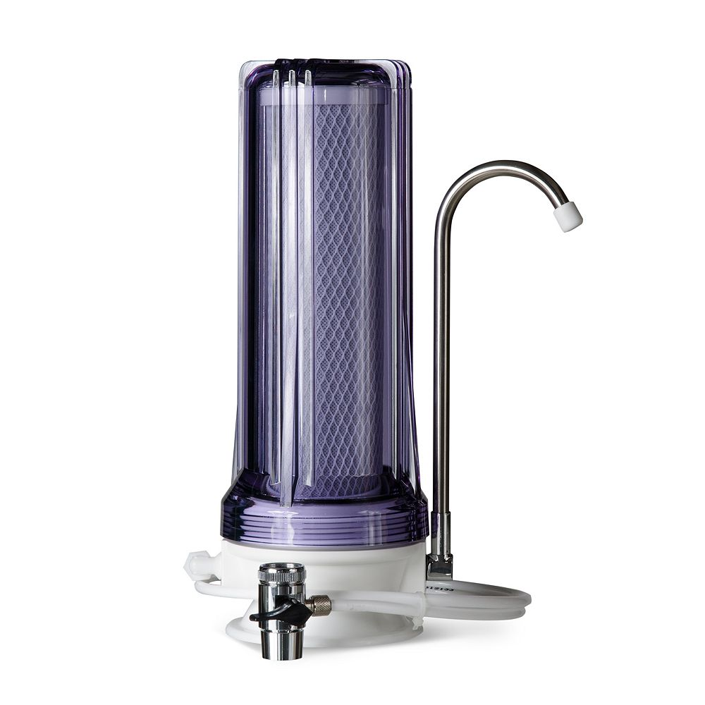 iSpring Distributeur de filtre pour eau potable à filtration multiple sur comptoir  CT10 - Transparent