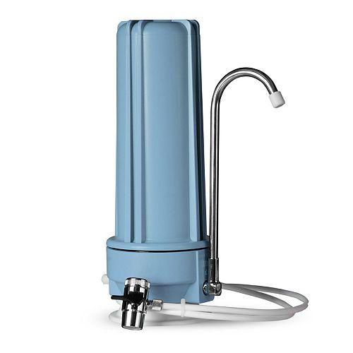 Distributeur de filtre pour eau potable à filtration multiple sur comptoir  CT10 - bleu
