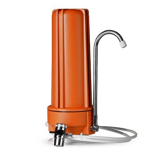 Distributeur de filtre pour eau potable à filtration multiple sur comptoir  CT10 - Orange