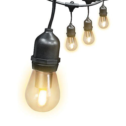 Guirlande lumineuse à DEL enfichable de qualité commerciale intérieure / extérieure à 6 lumières de 12 pi