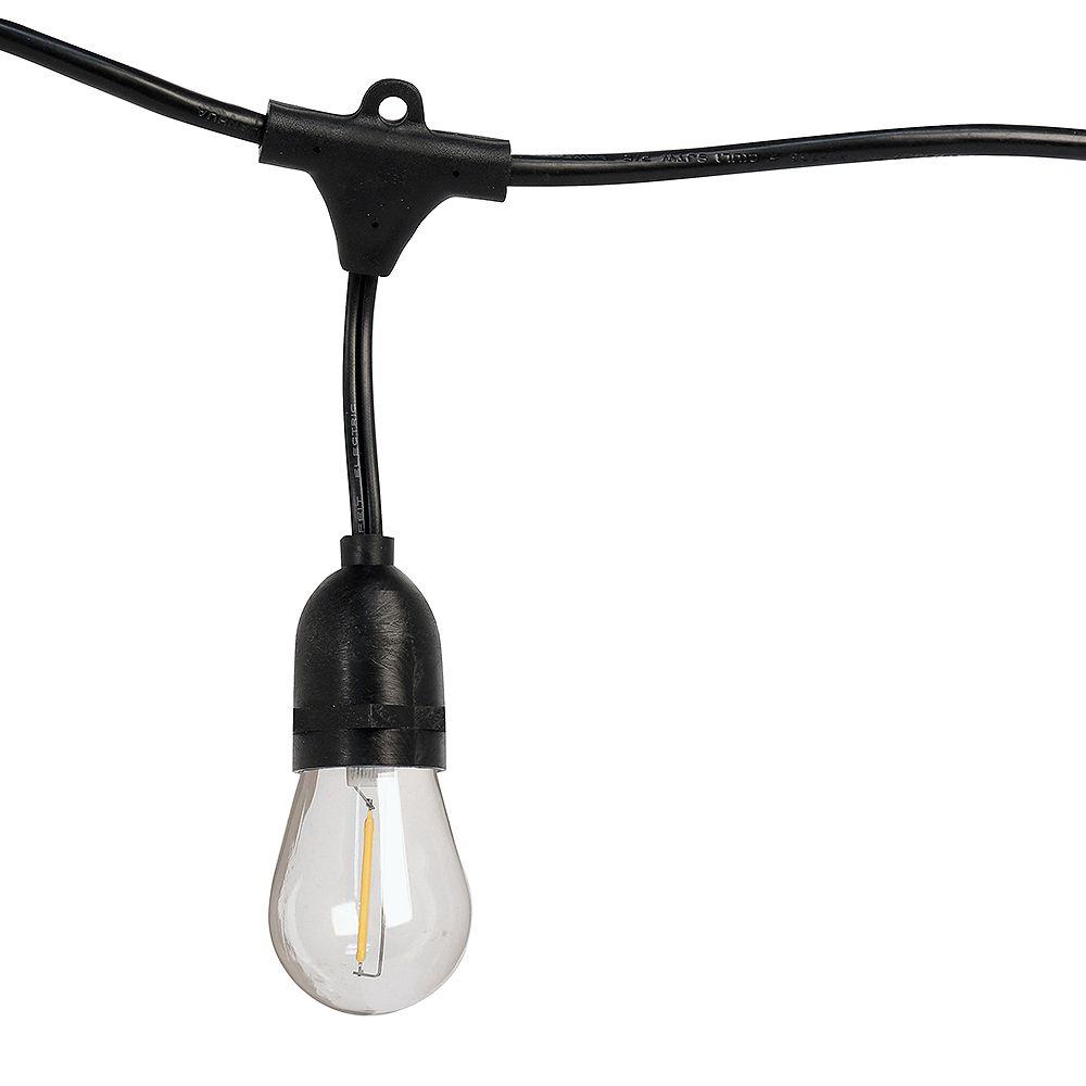 Feit Electric 20 ft. 10-Socket LED Filament Indoor and Outdoor String Light Set