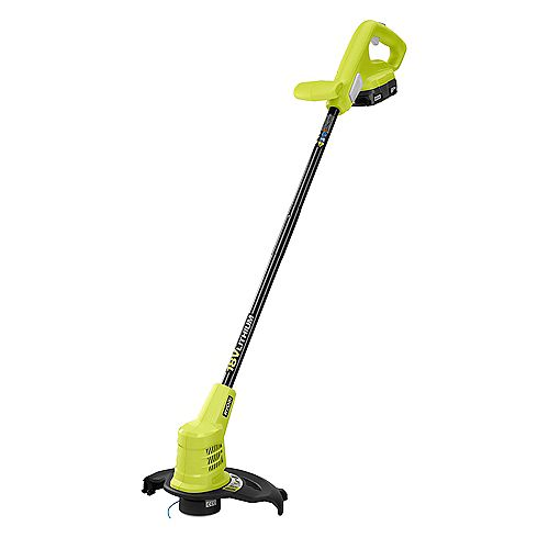 RYOBI 18V ONE+ Lithium-Ion Cordless 10-inch String Trimmer with 1.5Ah Battery and Charger