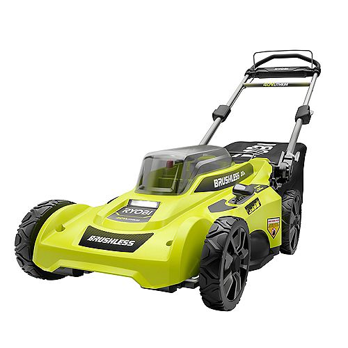 RYOBI 20-inch 40V Brushless Lithium-Ion Cordless Walk Behind Push Lawn Mower with 6.0Ah Battery