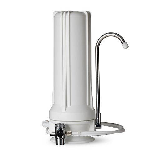 Distributeur de filtre pour eau potable à filtration multiple sur comptoir  CT10 - Blanc