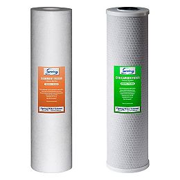 F2WGB22B Replacement Water Filters for 2-Stage 20 inch Big Blue Whole House Water Filter