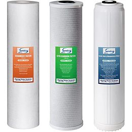 F3WGB32BPB Replacement Filter Pack for 3-Stage Whole House Water Filter, Fits WGB32B-PB