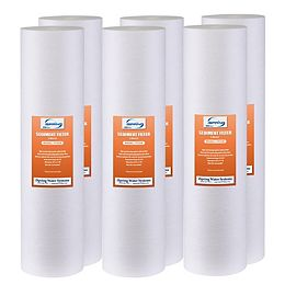 FP25BX6 20 inch Big Blue Whole House Water Filter 4.5 inch x 20 inch Sediment-Pack of 6