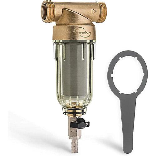 WSP-200 Filtre à eau réutilisable pour sédiments 200 Micron, 20 GPM 1 po. MNPT 3/4 po. FNPT