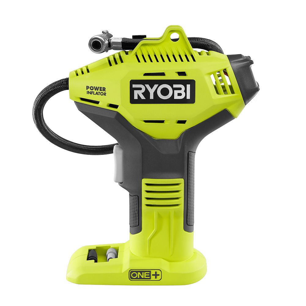 RYOBI 18V ONE+ Lithium-Ion Cordless High Pressure Inflator with Digital Gauge (Tool-Only)
