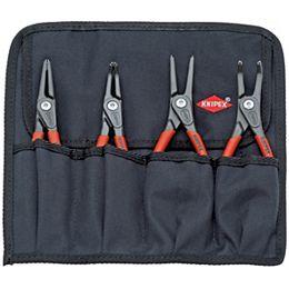 Jeu de 4 pinces à circlip (« Snap-Ring ») de précision dans un porte-outils flexible