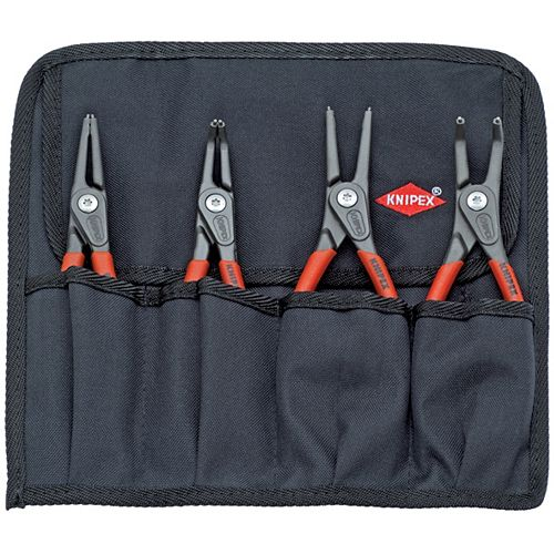 Precision Snap Ring Pliers Set in Tool Roll (4-Piece)