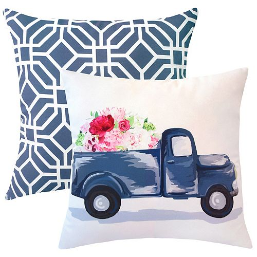 20-inch x 20-inch Spring Truck Outdoor Throw Pillow (Set of 2)
