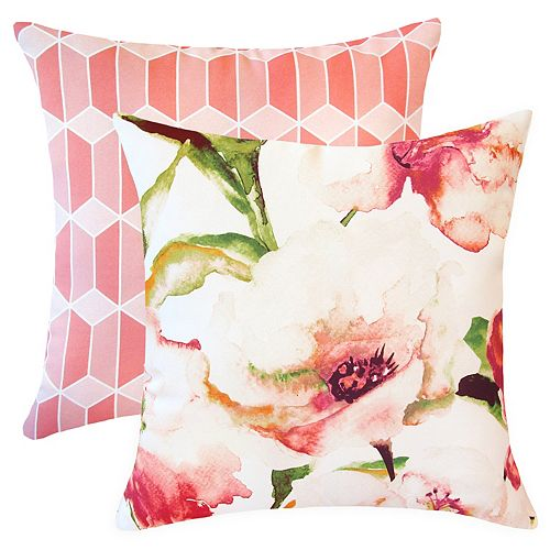 20-inch x 20-inch Spring Blooms Outdoor Throw Pillow (Set of 2)