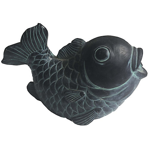 Statue à jet poisson