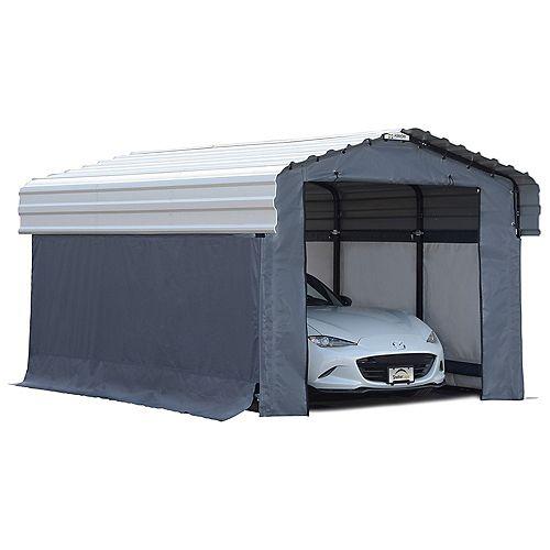 Enclosure Kit for 10 x 15 ft. Carport Grey