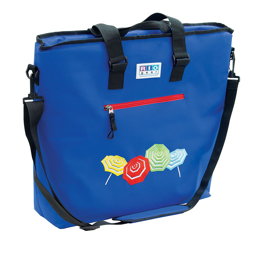 RIO Brands Gear Deluxe Insulated Tote Bag with Bottle Opener - Blue