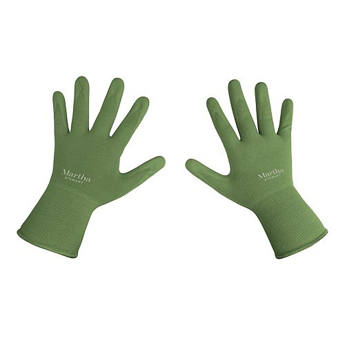 Nitrile Coated Palm Breathable All-Purpose Non-Slip Grip Garden Gloves (Large)