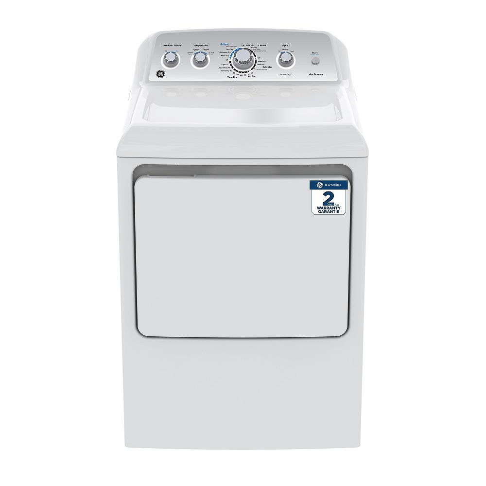 GE Adora 7.4 Cu. Ft. Front Load Electric Dryer in White