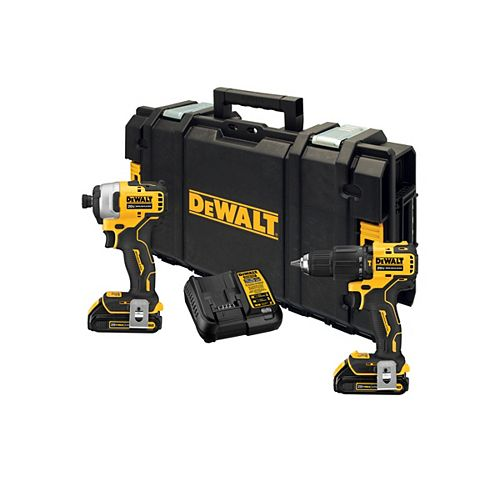 DEWALT ATOMIC 20V MAX Lithium-Ion Cordless Hammer Drill/Impact Combo Kit (2-Tool) with ToughSystem Case