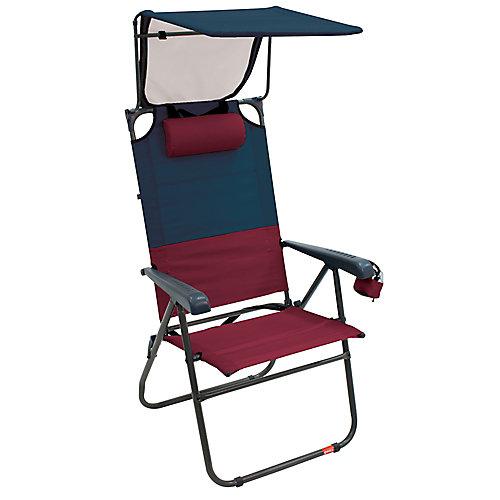 Gear Hi-Boy Aluminum Canopy Chair - Charcoal/Oxblood