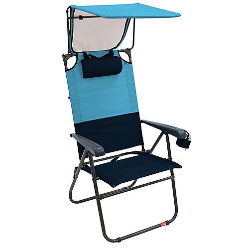 Gear Hi-Boy Aluminum Canopy Chair - Blue Sky/Navy