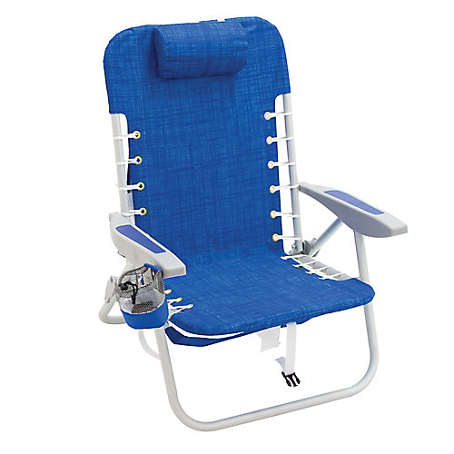 Gear 4-Position Lace-Up Backpack Chair - Blue