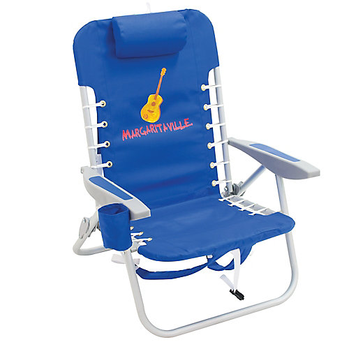 4-Position Backpack Beach Chair - Pacific Blue