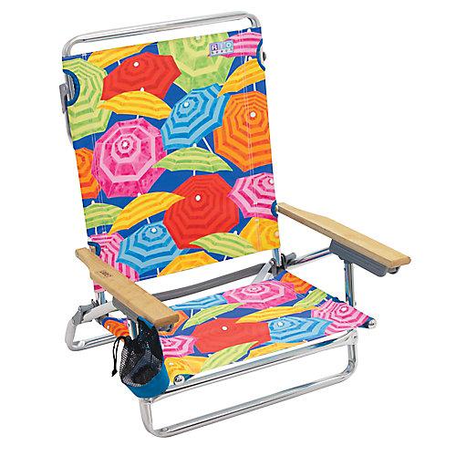 RIO Beach Classic 5-Position Lay-Flat Beach Chair - Print