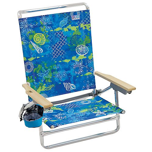Beach Classic 5-Position Lay-Flat Beach Chair - Baja Boho Shells