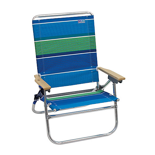 Beach 4-Position Easy In-Easy Out Beach Chair - Stripe