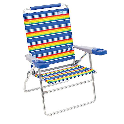 RIO Beach 4-Position 15 inch Tall Beach Chair - Stripe