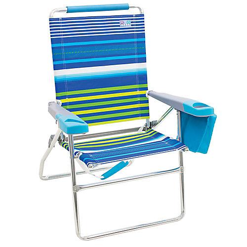 RIO Beach 4-Position 17 inch Tall Beach Chair - Stripe
