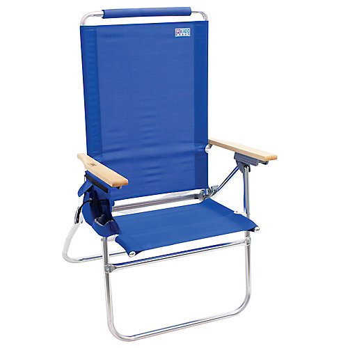 Beach Hi-Boy Tall Back Beach Chair - Blue