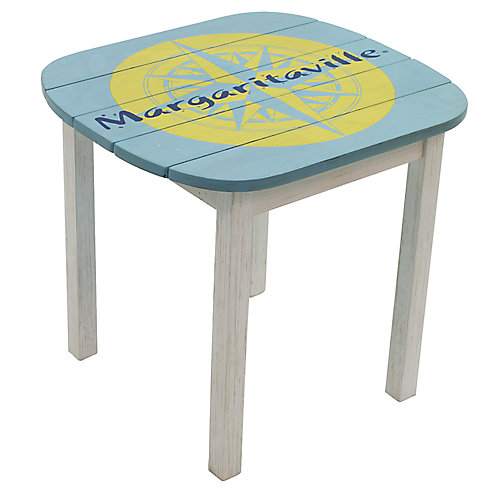 Adirondack Side Table - Nautical Compass