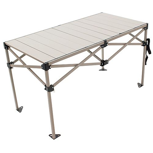 Gear Aluminum Roll Top Table 48 x 25 inch