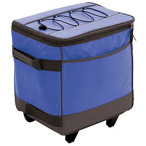 Gear Rolling Soft Sided Cooler - Blue