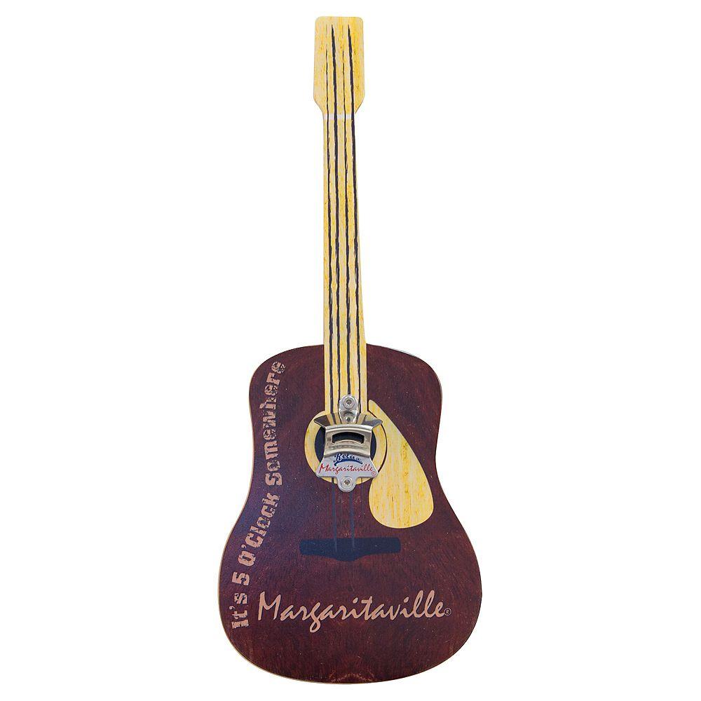 Margaritaville Bottle Opener Sign with Magnetic Cap Catcher - Guitar