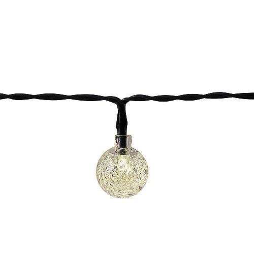 20 pi. Solaire 30 LEDs Globe Outdoor String Light