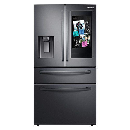 Réfrigérateur intelligent de 36 pouces 27,7 pieds cubes à porte française en acier inoxydable noir, profondeur standard - ENERGY STAR®