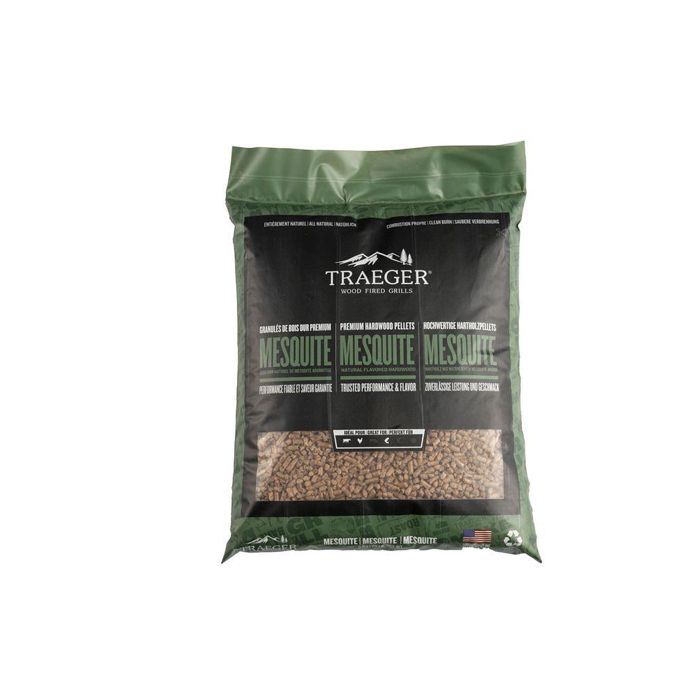 Traeger Grills Sac de granules de bois, 20 lb, mesquite