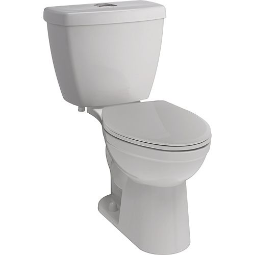 Foundations® Dual Flush Elongated Bowl Toilet in White