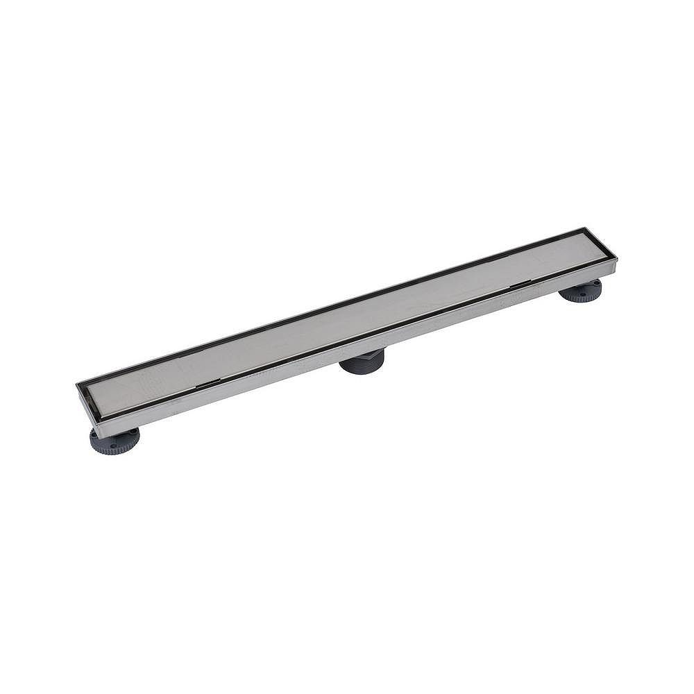 Oatey Designline 28 in. Stainless Steel Linear Shower Drain with Tile-In Pattern Drain Cover