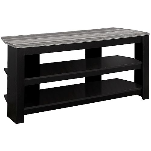 Tv Stand - 42 Inch L / Black / Grey Top Corner