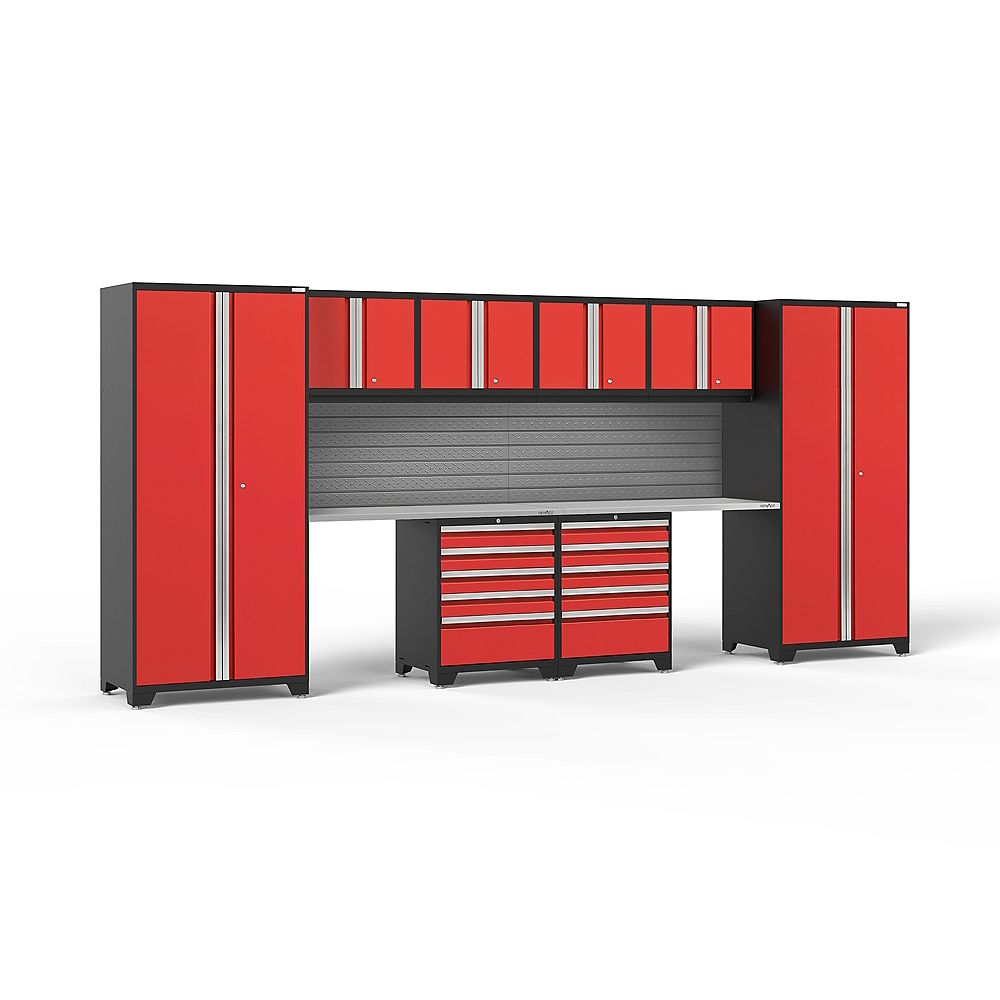NewAge Products Inc. Pro Series Red 10-Piece Cabinet Set