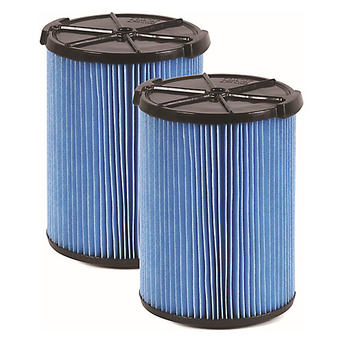 Fine Dust Filter VF5000 For 18.9 L (5 Gal.) & Larger Wet Dry Vacuums (2-Pack)