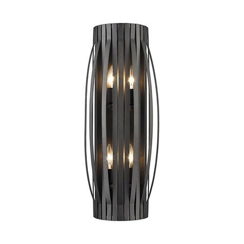 Lumière fixée au mur à quatre ampoules avec Fini bronze - 5 inches