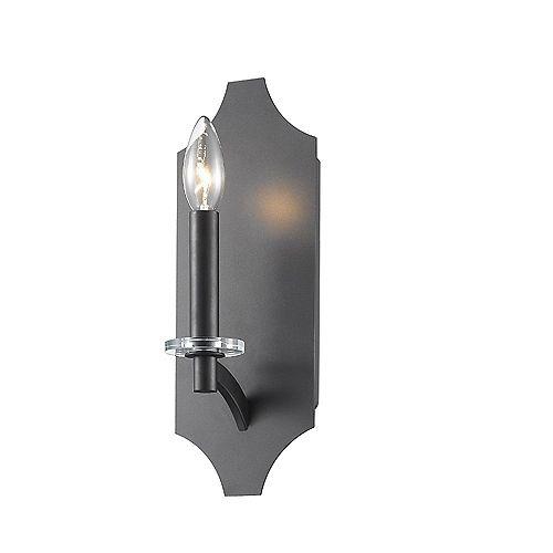 Lumière fixée au mur à une ampoule avec Fini bronze - 4.75 inches