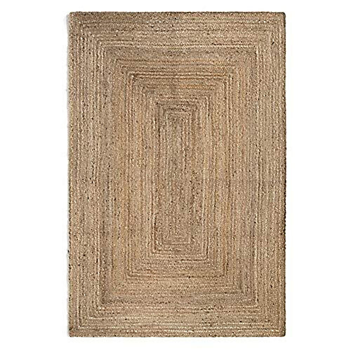 Hand Braided Jute Natural 5 ft. x 8 ft. Indoor Area Rug